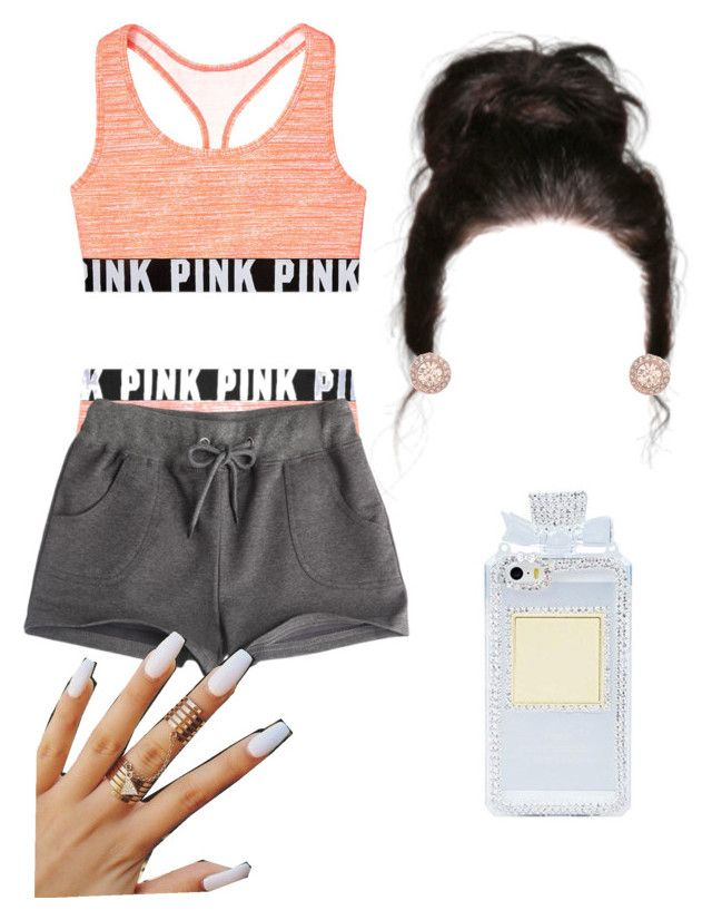 """#130:night"" by tyyanniharris ❤ liked on Polyvore featuring moda, Victoria's Secret PINK y Givenchy"