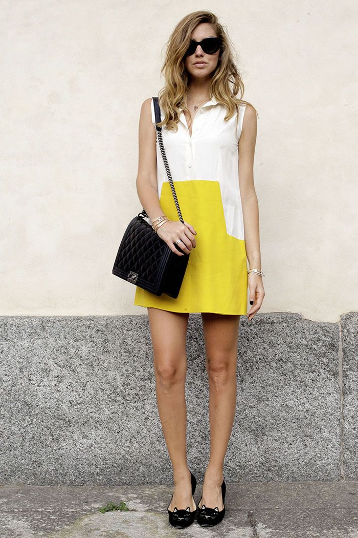 The italian IT Blogger #ChiaraFerragni from The Blonde Salad wears a #Peuterey  #AiguilleNoire dress designed by CO TE