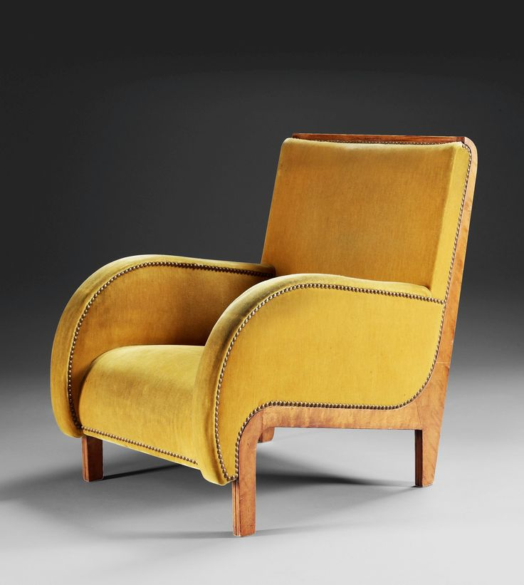 Armchair By SIGURD LEWERENTZ For NK, Sweden, 1930 · Velvet ChairsRocking ...