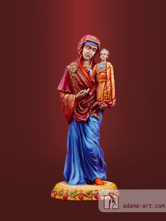 Богородица с иконы «Казанская» (059.ex) Христианская оловянная миниатюра Эксклюзивная роспись Высота статуэтки: 91мм Скульптор: Родион Биловус