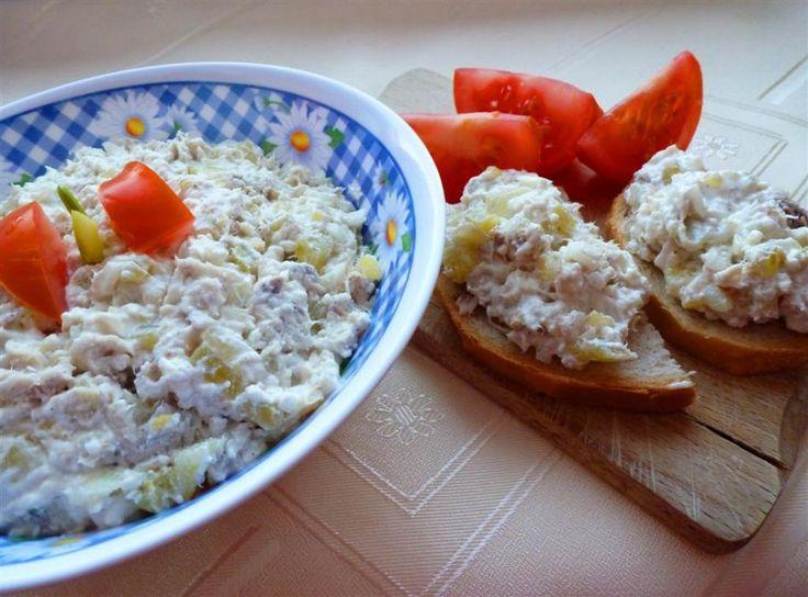 Pasta z makreli z białym serem i ogórkiem