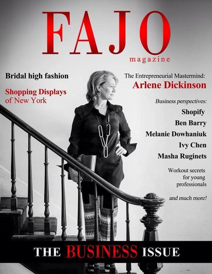 Arlene Dickinson For FAJO Magazine
