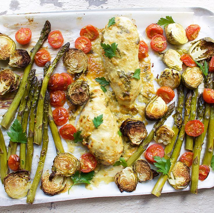 Healthy one-pan dinner recipe for Honey-Mustard Chicken with Asparagus and Roasted Tomatoes Ingredients 2 organic chicken breasts 1 bunch asparagus 1 punnet cherry tomatoes 10-12 Brussels sprouts 1 tbsp cold-pressed […]