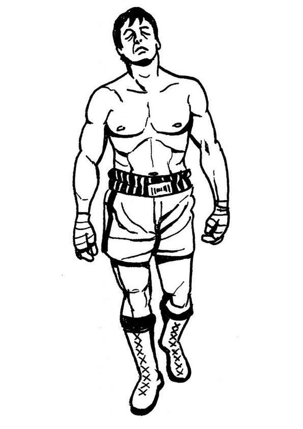 Rocky Boxing Coloring Pages Coloring Pages Sports Coloring Pages Color