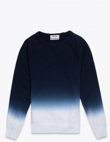 Acne College Sweatshirt Dyed Blue 170 Euro