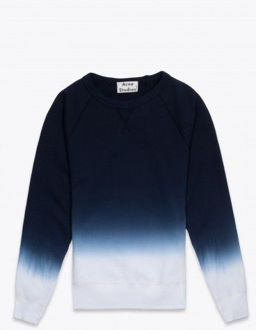 Acne College Sweatshirt Dyed Blue 170 Euro