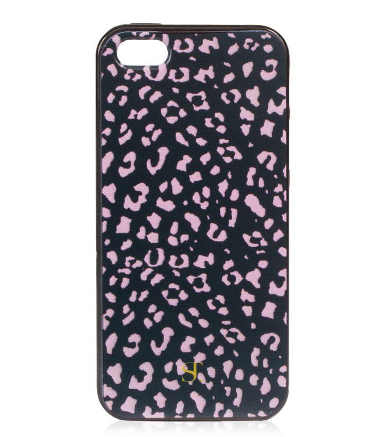 De Leo iPhone cover van Supertrash is uitgevoerd in en roze panterprint en is verkrijgbaar voor de iPhone 4 en 5.