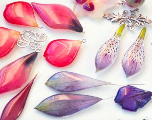Earrings in process - One Flower Story - so beautiful!