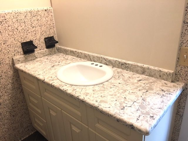 Two Amazing Custom Made Bathroom Countertop Which Are Designed