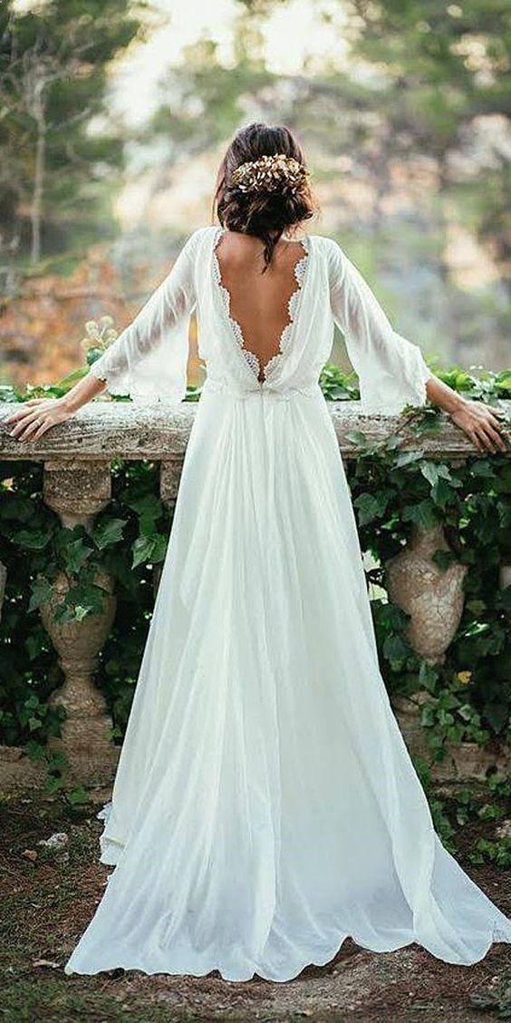 e7feeb7f159 45 Casual Wedding Dresses Ideas for 2019 Weddings in 2019 ...