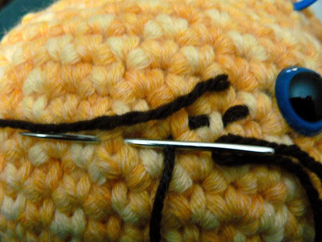 how to embroider amigurumi mouths