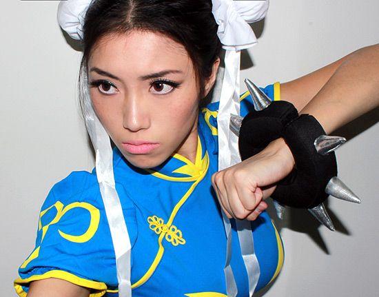 Chun Li from Street Fighter Cosplay makeup