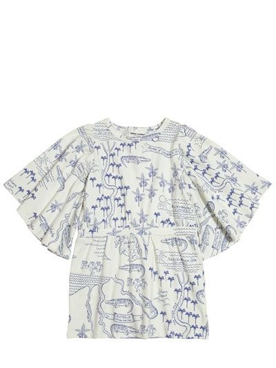 Mini Rodini - Map Printed Organic Cotton Jersey Dress on shopstyle.co.uk SS15