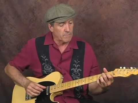 Learn how to play Rockabilly guitar chords n riffs lesson played on a Fe...