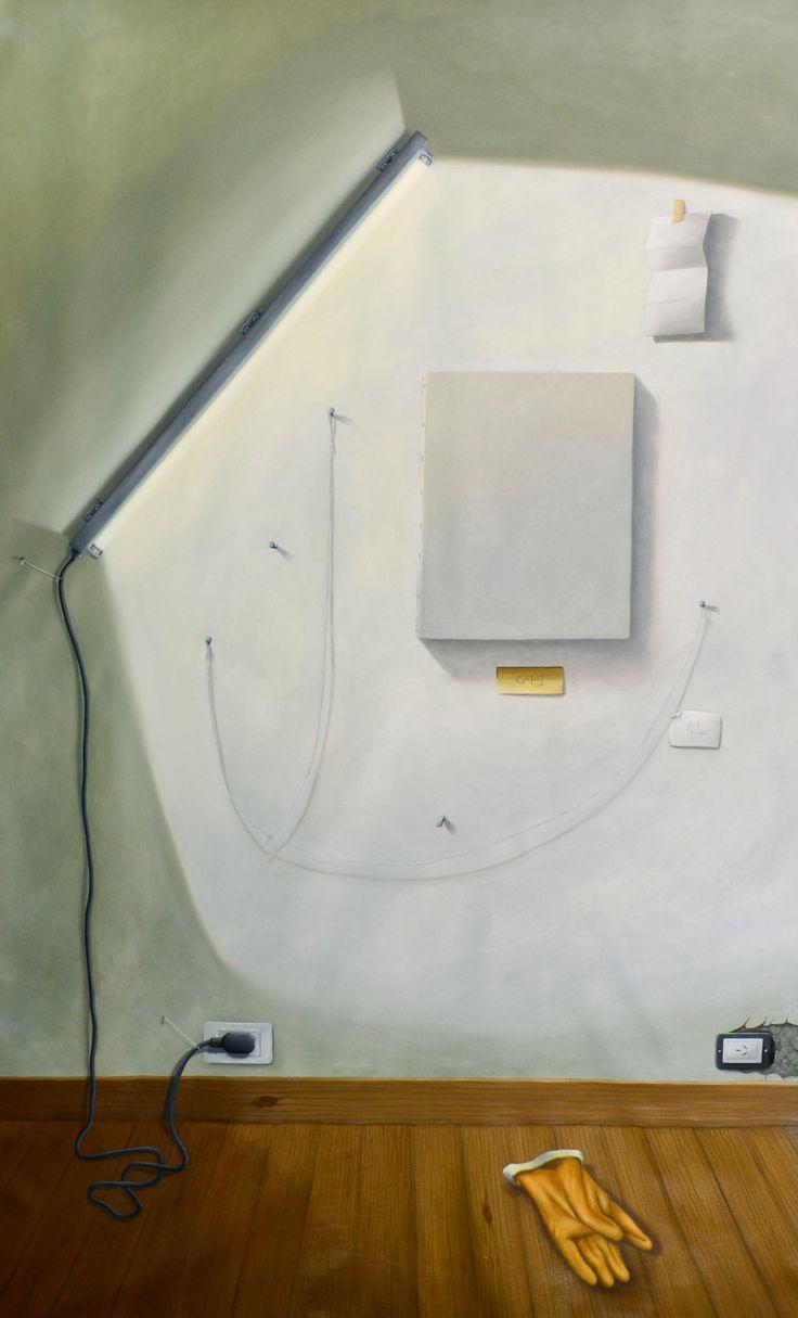 Simulatorio I (2014) - óleo sobre tela  (202x127)