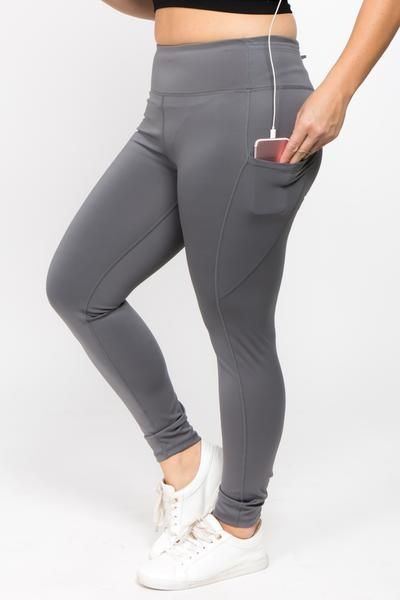304c9d3ef7376 High rise workout leggings with 5-pockets! Shop plus size activewear only  on ICONOFLASH.COM