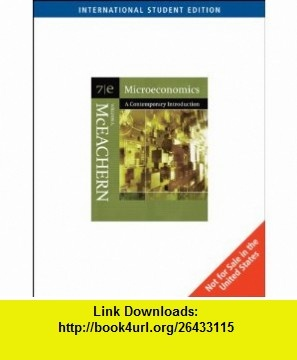Microeconomics A Contemporary Introduction WITH Infotrac AND Wall Street Journal (9780324322279) William A. McEachern , ISBN-10: 0324322275  , ISBN-13: 978-0324322279 ,  , tutorials , pdf , ebook , torrent , downloads , rapidshare , filesonic , hotfile , megaupload , fileserve