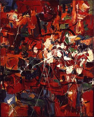 untitled, by Jean-Paul Riopelle, 1949