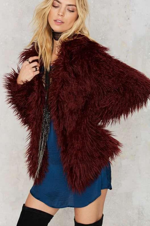 Gal Who Shagged Me Faux Fur Coat