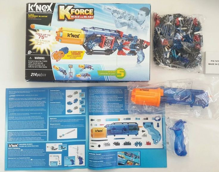 K'NEX K-FORCE – K-25X RotoShot Blaster Building Set 214 Pieces Ages 8+ NEW Other    #knex #knexnerf #knexnerfgun #nerf #nerfgun #toy    Let your children use their wild imaginations by designing and building their own dart blasters with K'NEX K-FORCE Build and Blast'K-25X RotoShot Blaster Building Set. Your kids will enjoy non-stop excitement as they build an array of different building set allows builders to shoot up to five darts without reloading. | eBay!