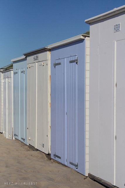 Zeeland Netherlands, beach huts