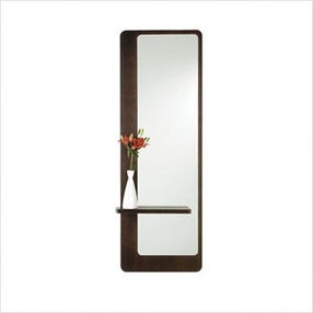 17 best images about hall on pinterest oval mirror one for Full length mirror with shelf