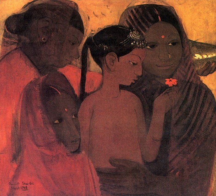 Amrita shergil and her contemporaries bottor of itlos