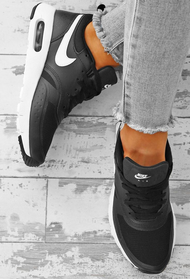 Nike Air Max Black and White Vision Trainers | Pink Boutique