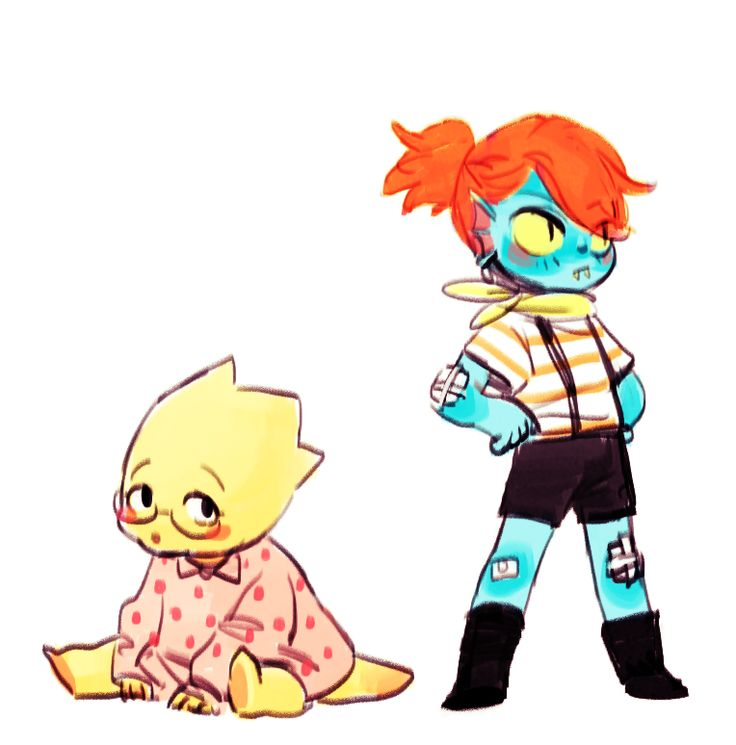 Little Alphys and Undyne ||| Undertale Fan Art by hwamyong on Tumblr
