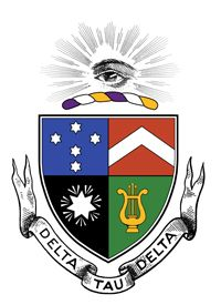"""FRATERNITY: Delta Tau Delta (ΔΔΤΔ) NICKNAME: Delts COLORS: Purple, White and Gold FOUNDED: 1858 LOCAL FOUNDING: 1948 BELIEF: """"Truth, Faith, Power, Courage."""""""