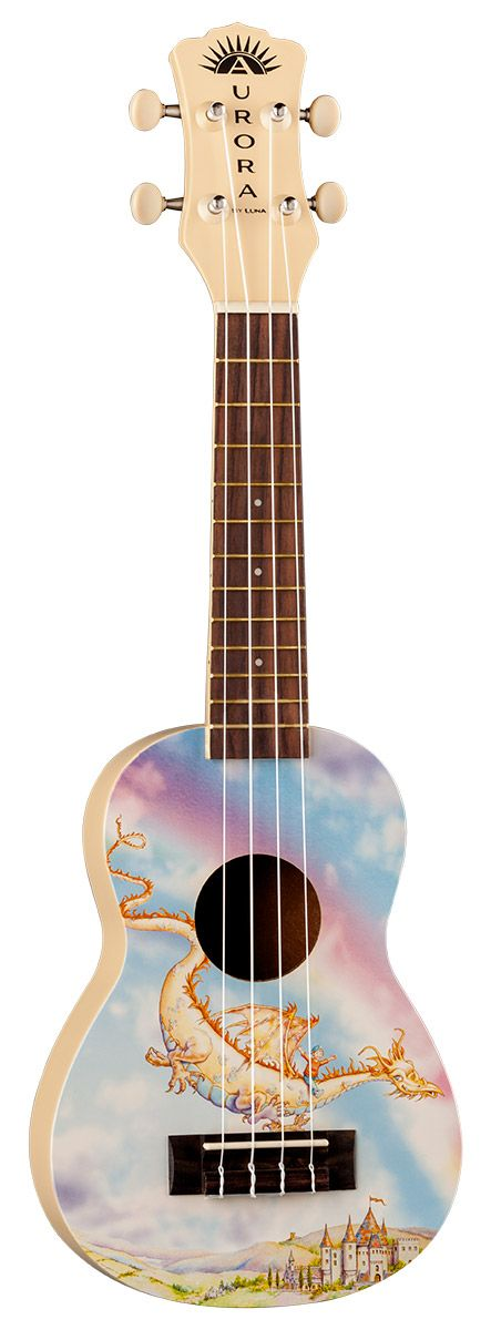 Puff the Magic Dragon... Saw this  at Hawaii Ukulele And Gift Corporation on Front Street in Lahania and fell in love! Luna Artist Series Guitars