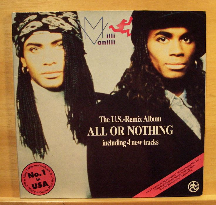 MILLI VANILLI - All or nothing - Vinyl LP - Frank Farian  Girl you know its true