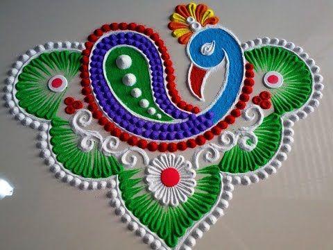 Very easy rangoli design by DEEPIKA PANT - YouTube