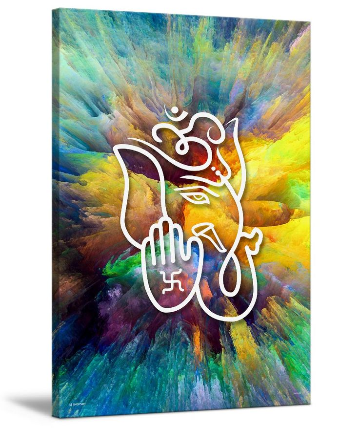 Avercart Canvas Lord Ganesha / Shree Ganesh / Shri Ganpati on Canvas / Canvas Print of Ganesha / Canvas Art Ganesh 20x30 inch Gallery wrap