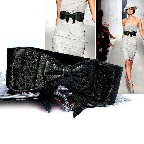 Lady Waist Wide Elastic Fashion Belt Features Flower Detail - Black by HOTER, http://www.amazon.com/dp/B0077FRANG/ref=cm_sw_r_pi_dp_AZ80rb1DMNEDX