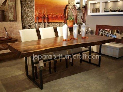 Model Meja Makan Minimalis Solid Natural Stainless 2