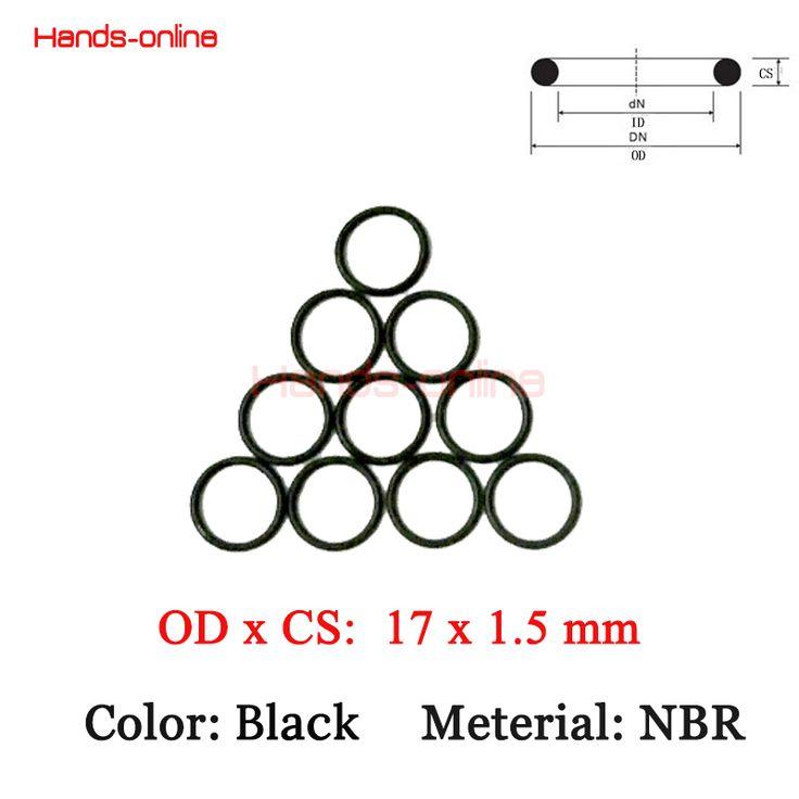 10pcs/lot 17 x 14 x1.5 mm O-rings O Ring oil seal resistant NBR Nitrile Butadiene Rubber sealing o-ring 17mm OD x  1.5mm CS #Affiliate