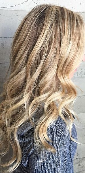 a lovely blend of blonde highlights mixed in with a naturally ashy base