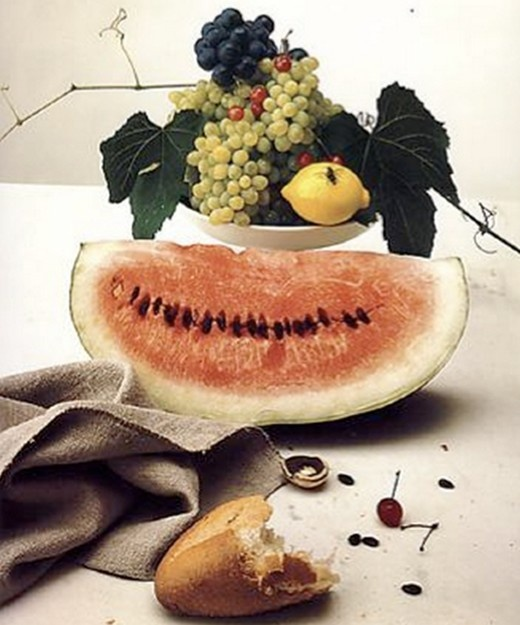 Still Life with Watermelon, New York, 1947, Irving Penn