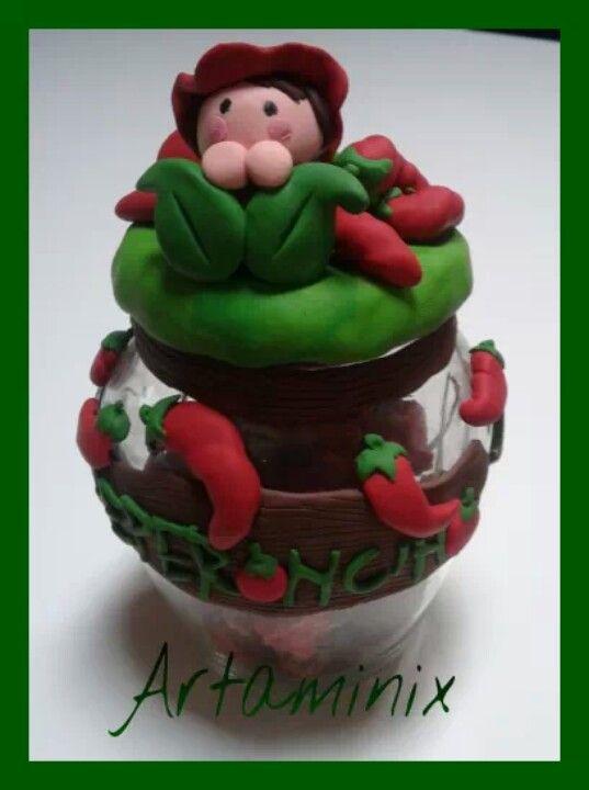 Peperoncino #vasetti #pepper #handmade #fimo #piccante #regalo #love #art #artaminix #orto