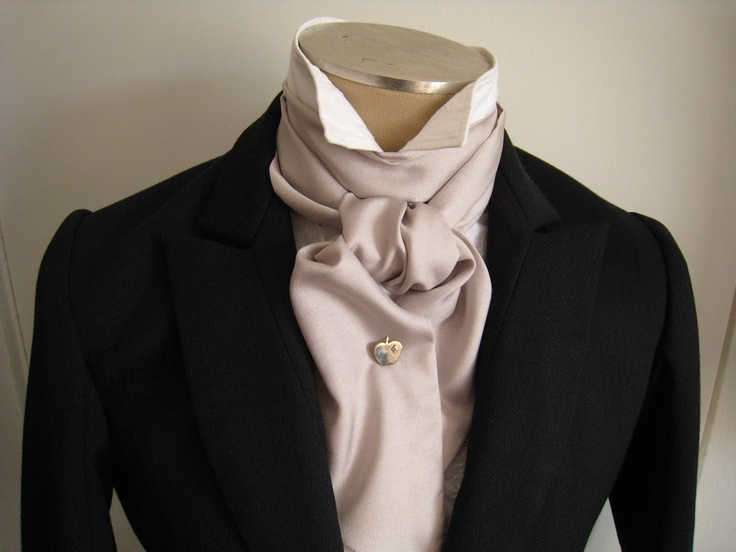 57in Cravat in light grey, elegantly formal for your wedding, prom, or other event. $12.00, via Etsy.
