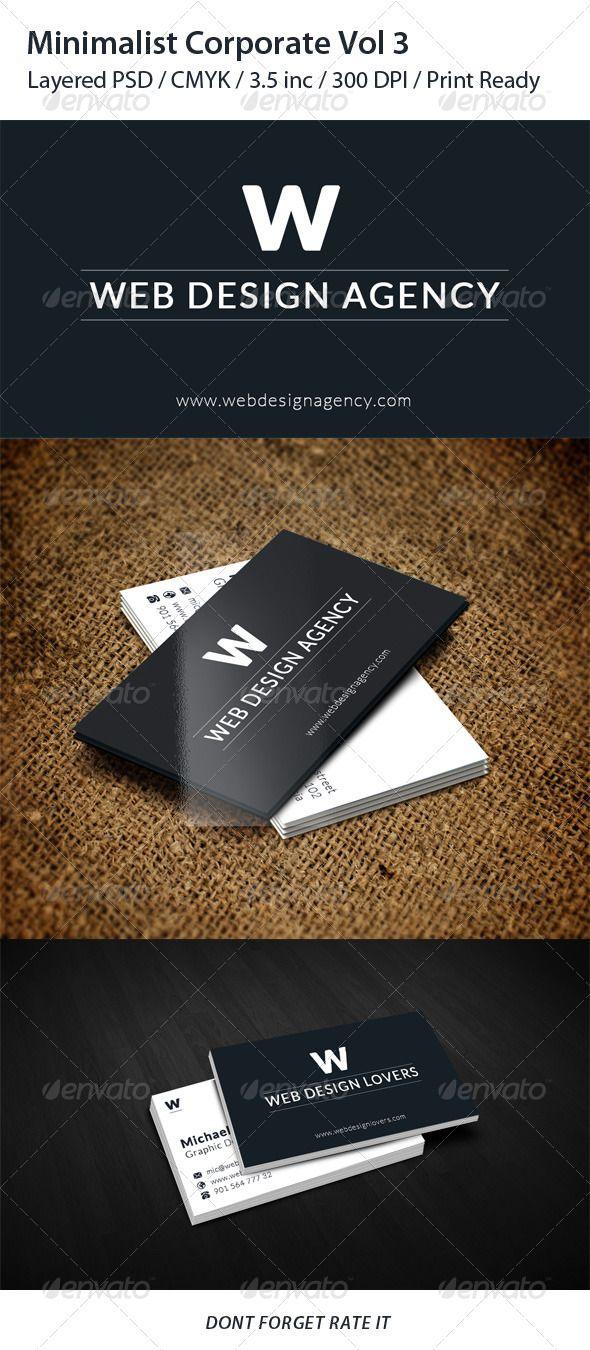 Minimalist Corporate Business Card Vol 2