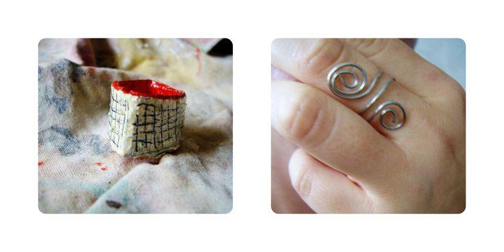 Anelli...realizzati in cartone...e con filo in acciaio... http://serendipityofficinadelleidee.blogspot.it/
