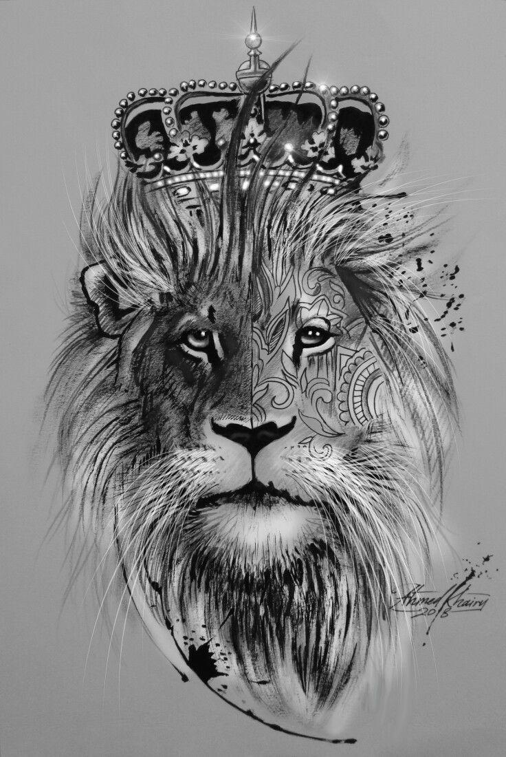 Löwe Mit Krone
