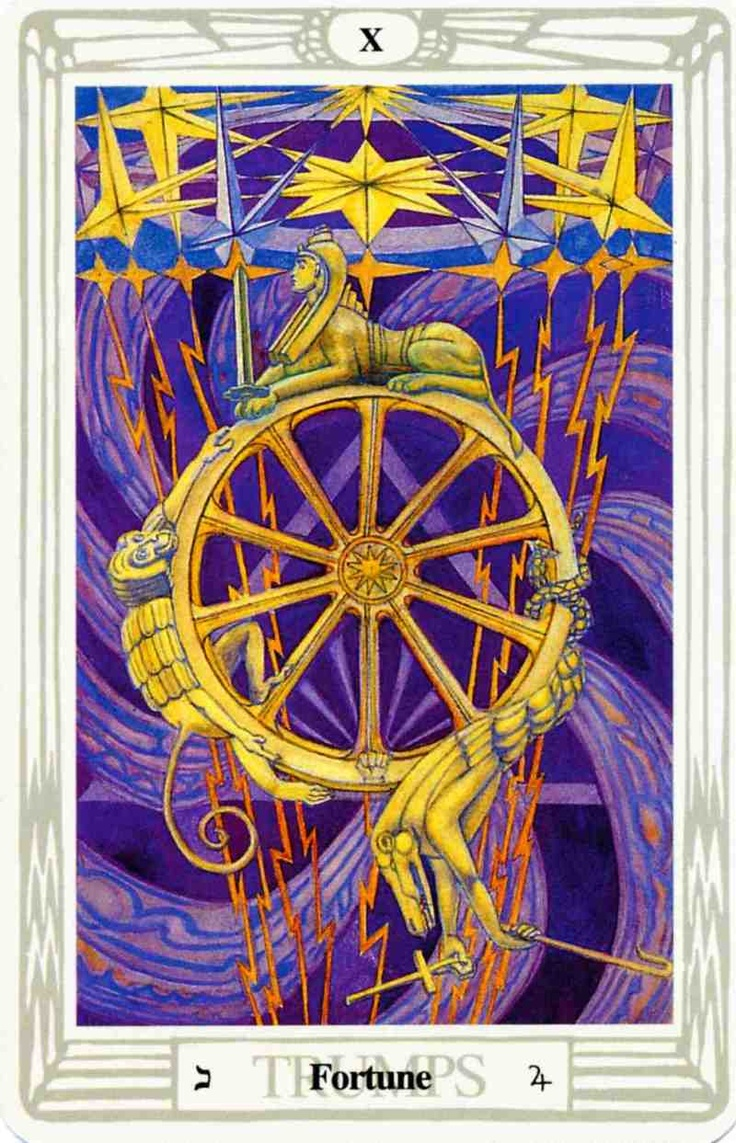 Tarot And More 3 Tarot Symbolism: 'Fortune' Tarot Card From The Thoth Deck By Aleister