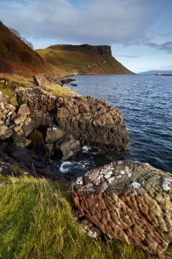 The Isle of Skye coastline near Portree, Isle of Skye, Scotland