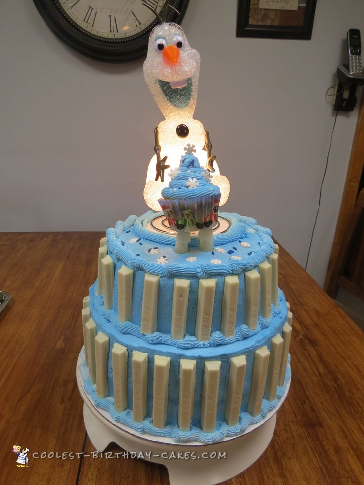 Cool Light Up Olaf Birthday Cake... Coolest Birthday Cake Ideas