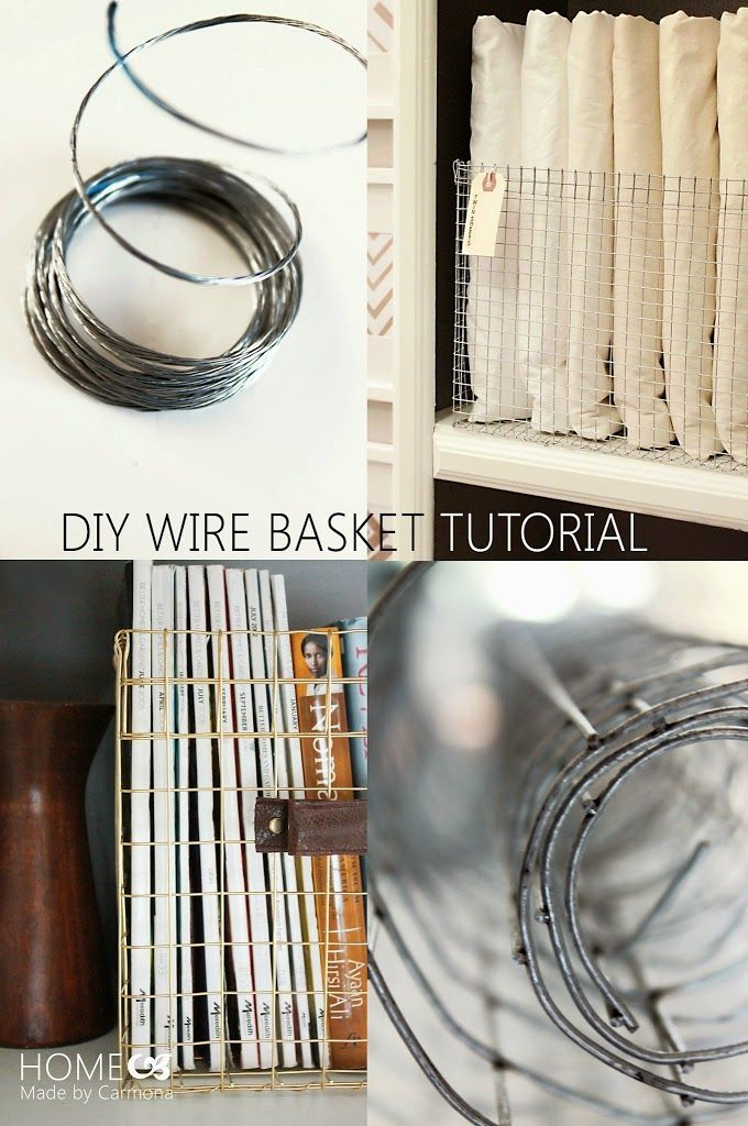 Forget buying expensive wire baskets...learn step-by-step how to make your own custom styled wire baskets from hardware cloth!