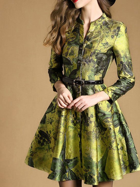 Multiflora at stylewe.com  Love the sheen of the fabric, the color, and the pattern.  Oh, and the dress itself.