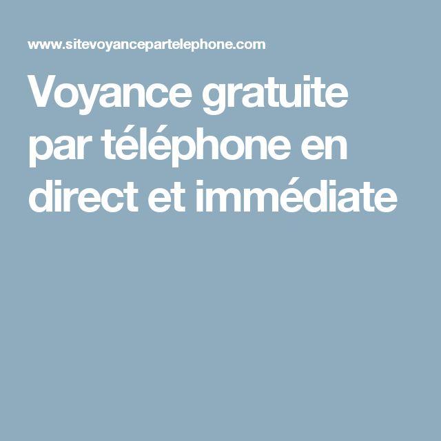 Voyance gratuite par téléphone en direct et immédiate